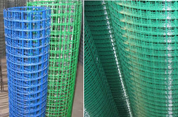 Green Plastic Coated Welded Galvanized Steel Wire Mesh