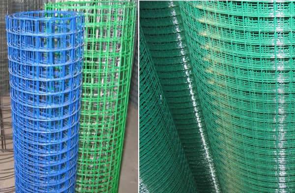 Green Plastic Coated Welded Galvanized Steel Wire Mesh